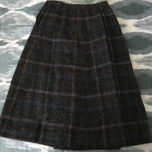 Brooks Brothers Skirts - Vintage Brooks Brothers Wool Plaid Skirt